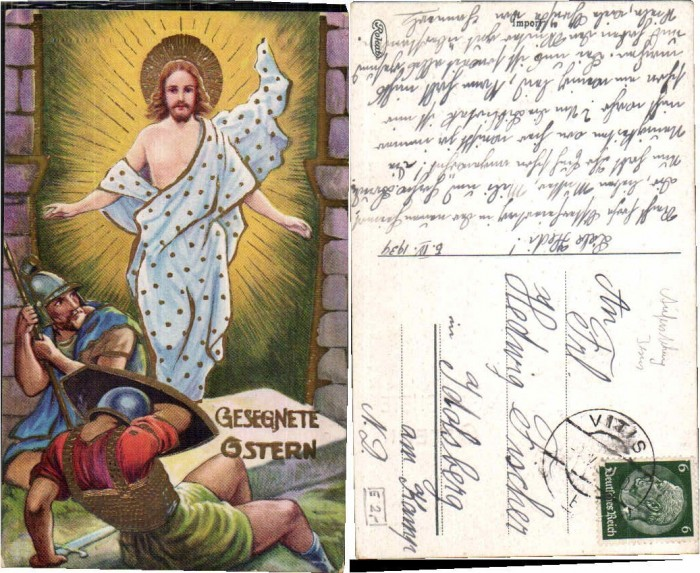 65742,Ostern Jesus Auferstehung aus Grab Römer