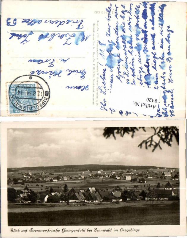 8420,Georgenfeld bei Zinnwald Erzgebirge Dippoldiswalde