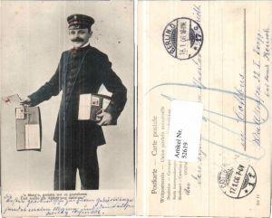 52619,Briefträger m. Brief Postkasten Briefkasten