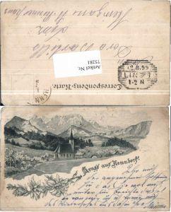 75281,Vorläufer Gruß aus Henndorf am Wallersee 1895