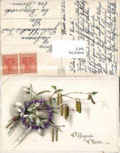 76475,Meissner & Buch 2437 Ostern Blumen Litho