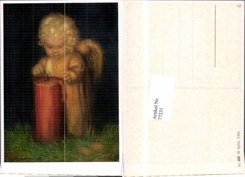 77231,Engel mit Kerze M. Spötl