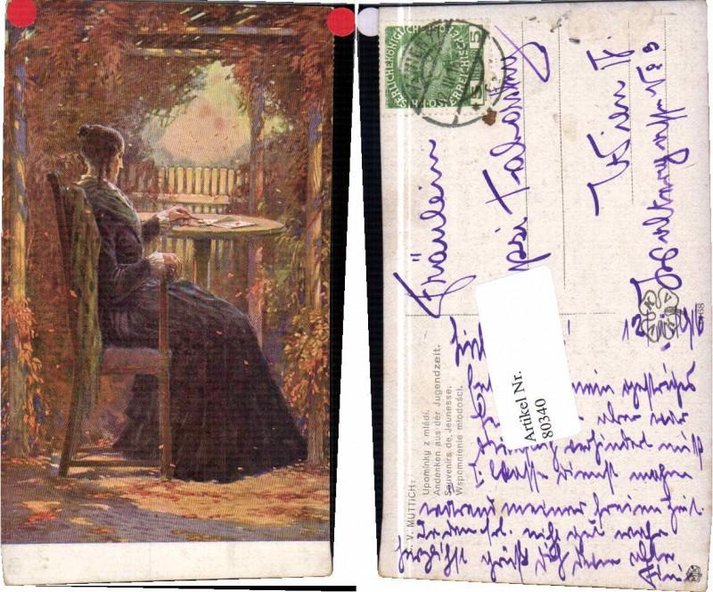 80340,C.V. Muttich Andenken an d. Jugendzeit Frau Liebesbrief