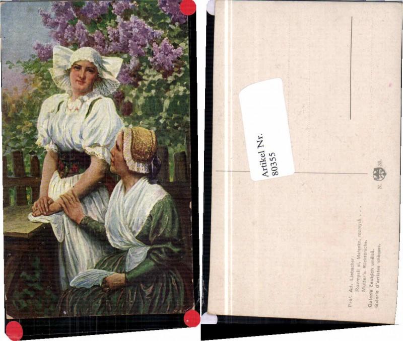 80355,A. Liebscher Mutter Rücksprache Trachten Schwarzwald