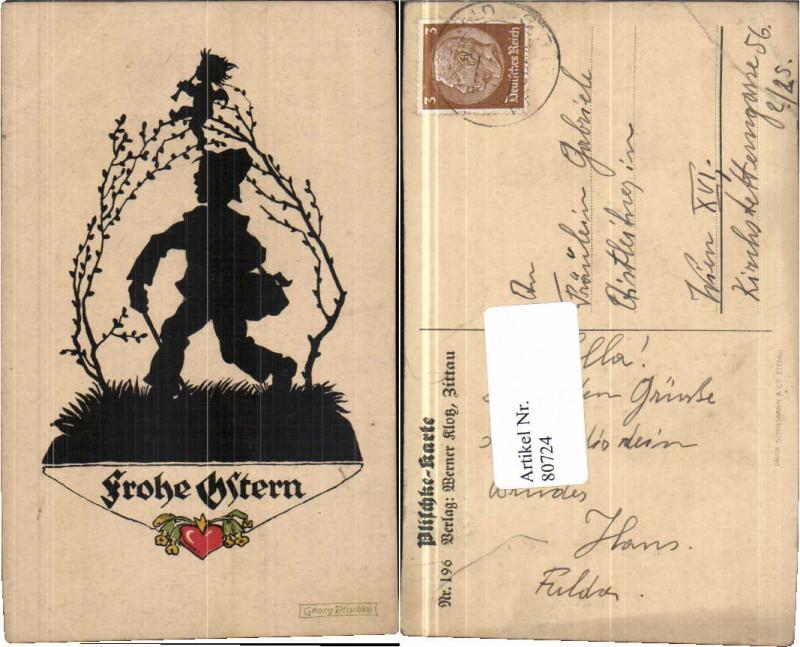 80724,Scherenschnitt Ostern Engel Georg Plischke 196