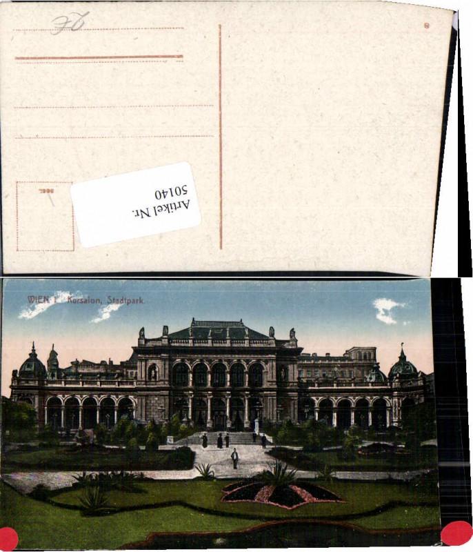 50140,Wien 1 Kursalon Stadtpark 1920