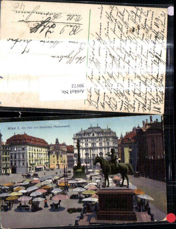 50172,Wien 1 Am Hof Radetzky Monument 1915