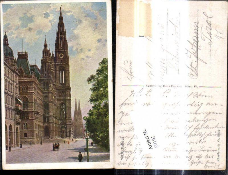 50193,Wien 1 Rathaus Künstlerkarte 7020-2
