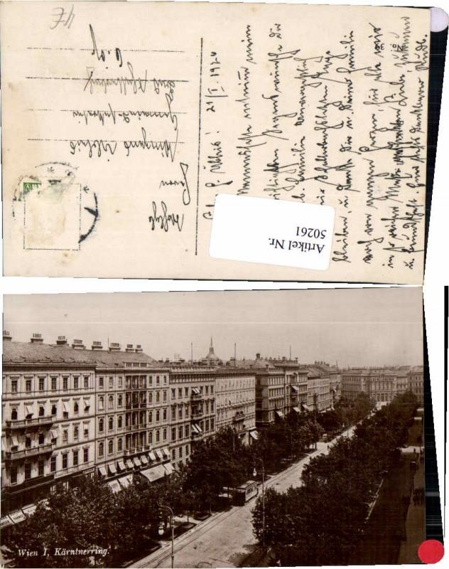 50261,Wien 1 Kärntnerring Strassenbahn 1926
