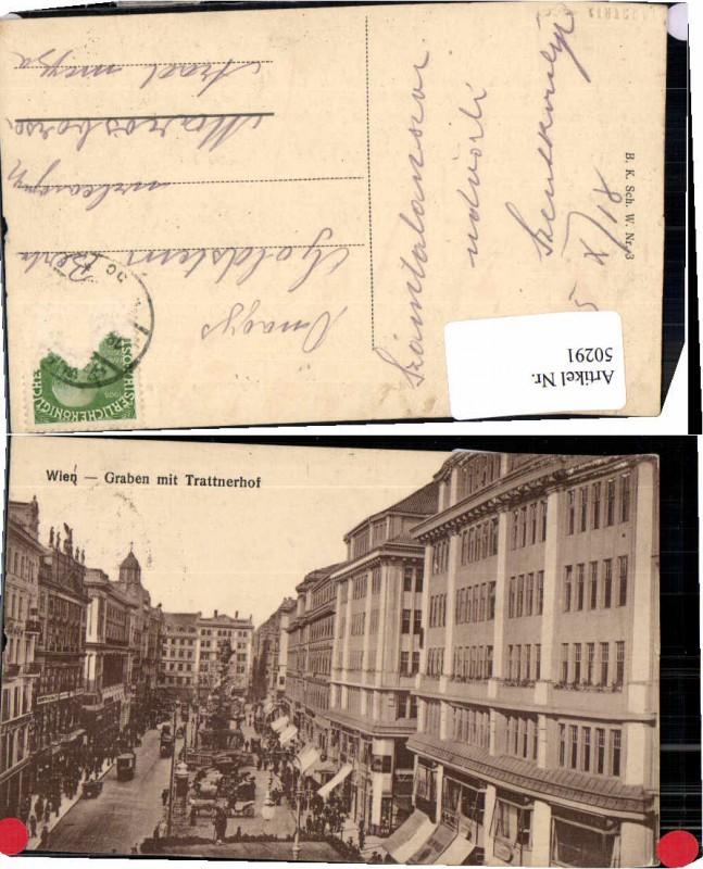 50291,Wien Graben m. Trattnerhof  Belebt 1910