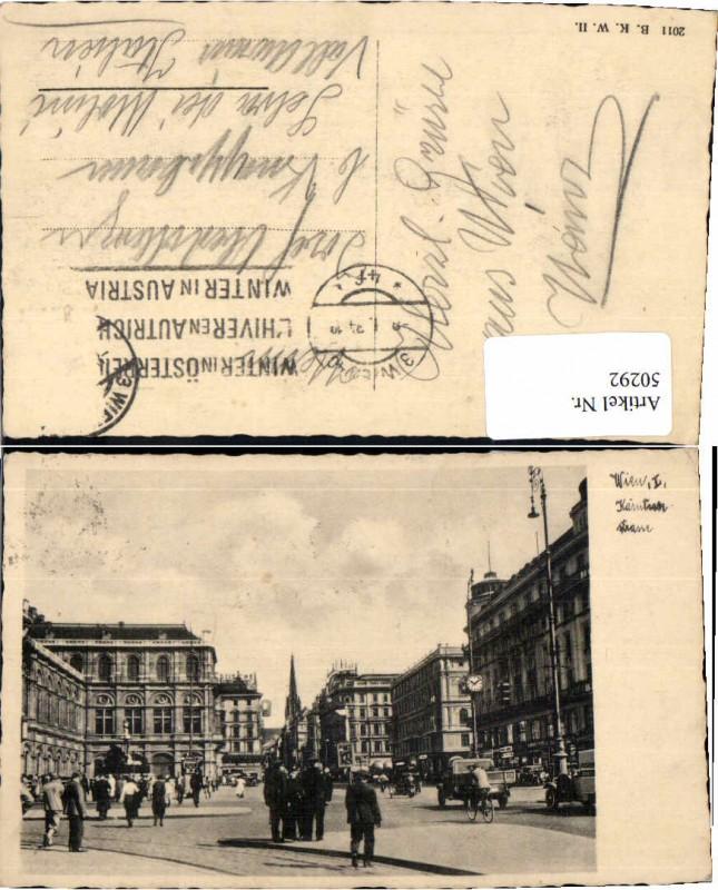 50292,Wien 1 Kärntnerstrasse 1930 B.K.W.I 2011
