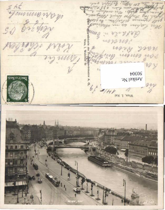 50304,Wien Donau Kai Strassenbahn 1938