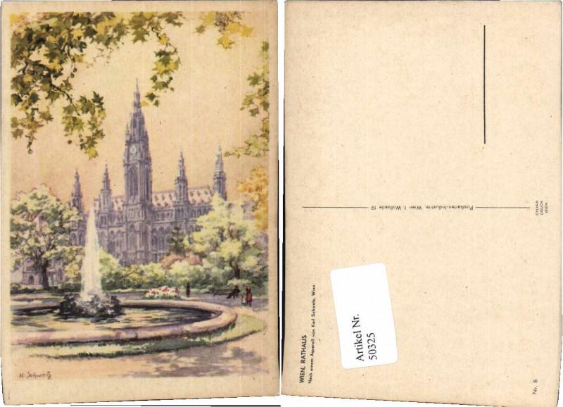 50325,Karl Schwetz Wien Rathaus Brunnen
