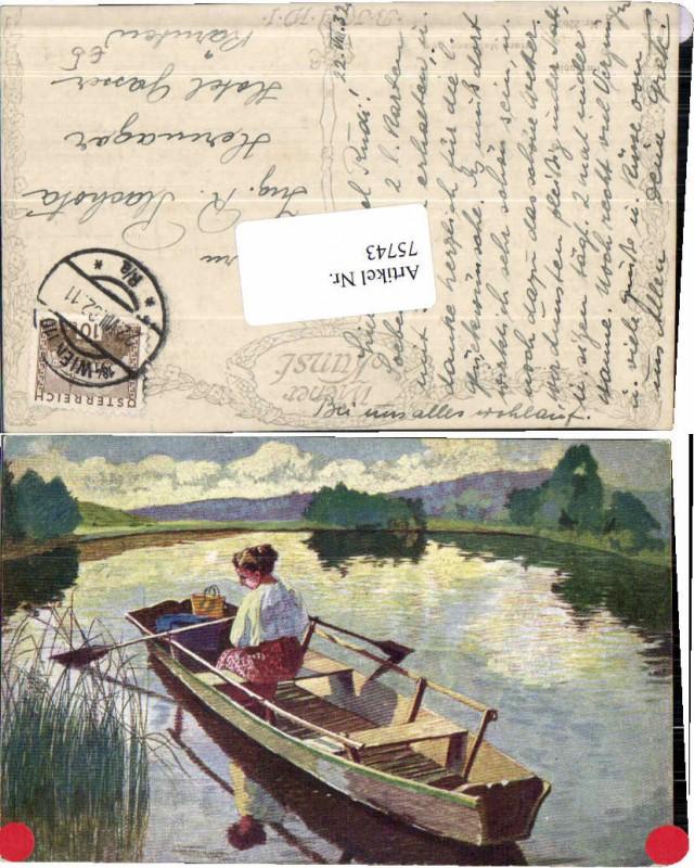 75743,Hans Massmann Frau im Boot Zille B.K.W.I 2263