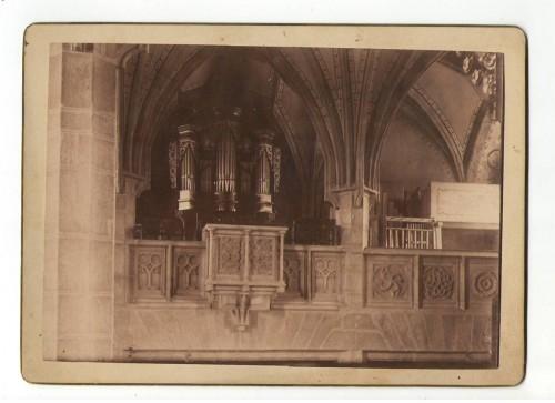 CDV Foto Kirche Pabneukirchen Innen 1893