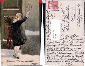 89269,C. Benesch Weinachten Kind Pelzmantel B.K.W.I