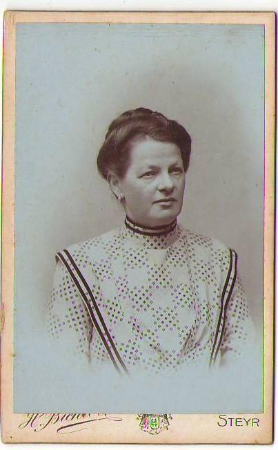 CDV33,CDV Steyr Atelier Bichler Bahnhofstrasse Dame Portrait