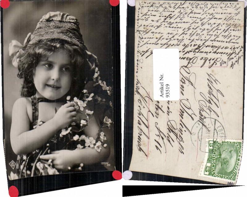 93519,Mädchen m. Bauerntracht Blumen Hut