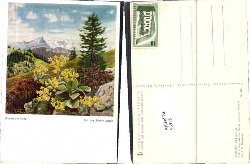93958,Mundgemalt A.E. Stegmann Blumen am Hang