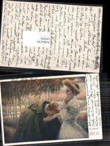 105958,Eduard A. Dussek Frau  Mann küsst Frau Handkuss