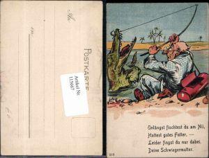 115667,Juxkarte Scherzkarte Mann Angler angelt Drachen Schwiegermutter Spruch