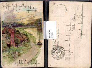 115684,Litho Winkler & Schorn Sonnenschein AK Sonne Postkarte Serie 4