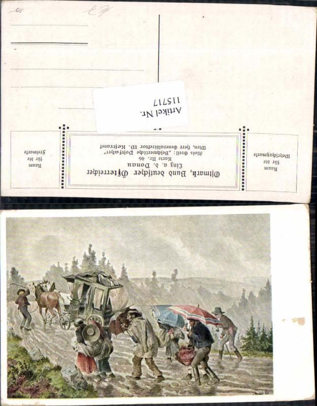 115717,Ostmark Bund deutscher Österreicher 46 Alois Greil sign. Kutsche Postkutsche