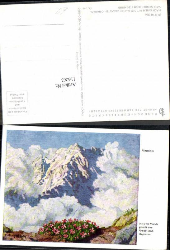 116263;Dennoch Künstlerkarte 366 Arnulf Eric Stegmann Alpenheim