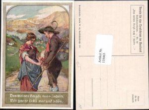 118463,VDA Verein f.d. Deutschtumim Ausland Volksliedkarte 10 A. Marussig