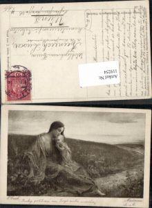 119254,E. Czech Madonna Frau m. Kind