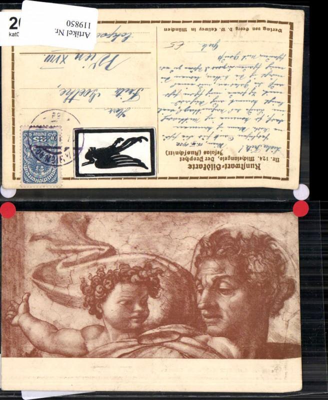 119850,Kunstwart Karte 124 Michelangelo Prophet