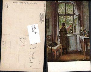 120038,Hermann Graf Sonntag Morgen MKB 2396 Frau am Fenster