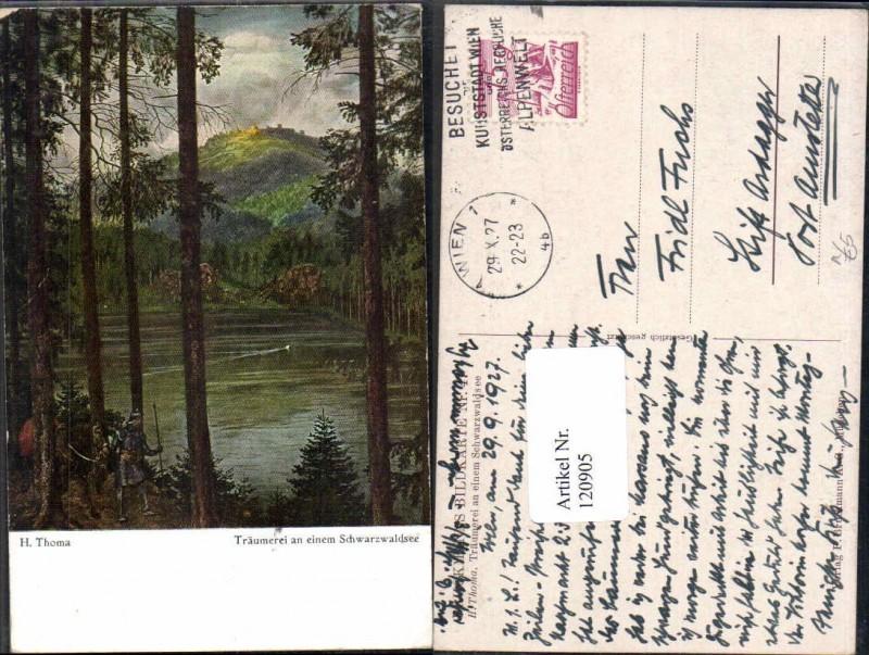 120905,H. Thoma Träumerei an einem Schwarzwaldsee Schwarzwald