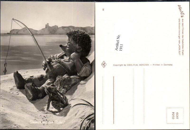 1911,Mecki Igel Nr 30 Angel Angeln Angler Frosch See Meer Strand Aussicht