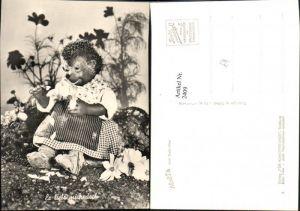 2409,Mecki Igel Nr 9 Liebe Blume Blumen Pflücken Stein