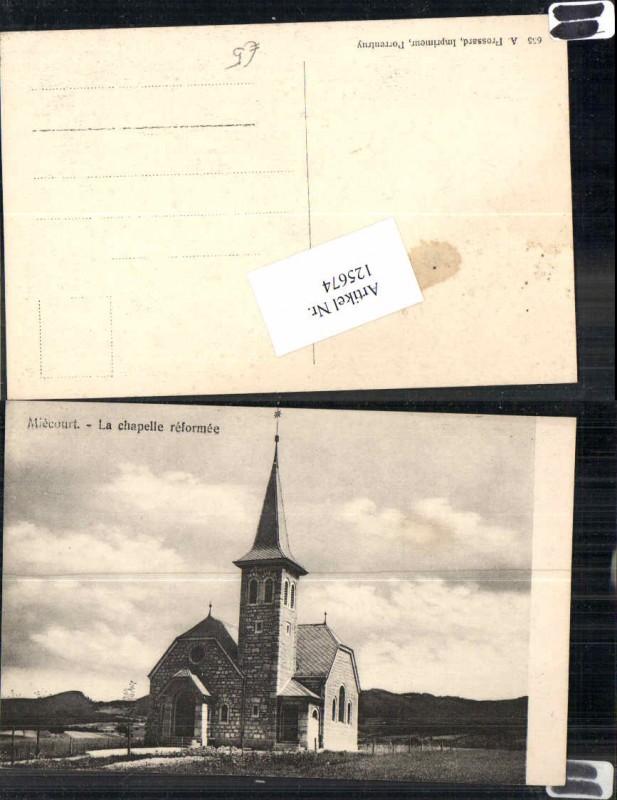 125674,Miecourt Mieschdorf Kapelle Kirche La baroche