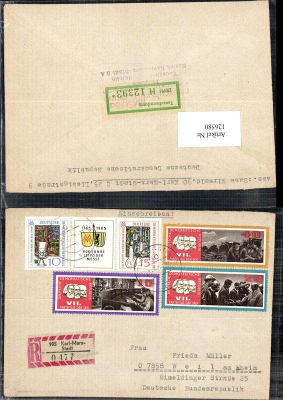 126580,Reco Einschreiben Karl Marx Stadt Nr 0477 Philatelie DDR 1968 0