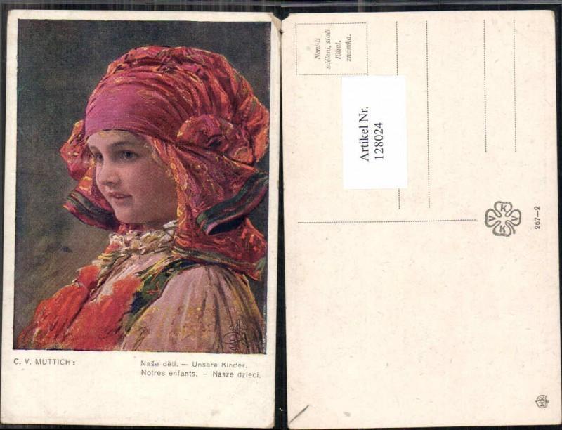 128024,C.V. Muttich Tschechische Tracht Kind Mädchen Olomouc
