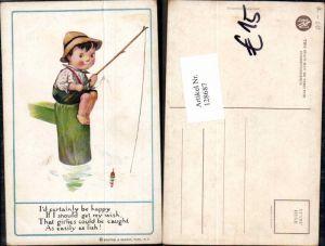 128687,Reinthal & Newmann Süsser Junge beim angeln fischen Angel
