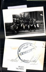 128760,Foto Wehrmacht Soldaten POW Camp Kriegsgefangenenlager Censored