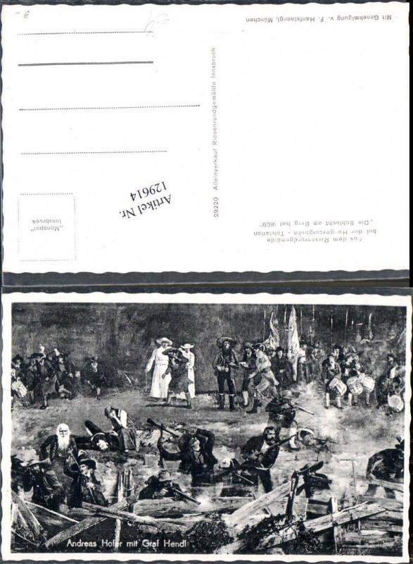 129614,Andreas Hofer Tiroler Freiheitskampf Graf Hendl