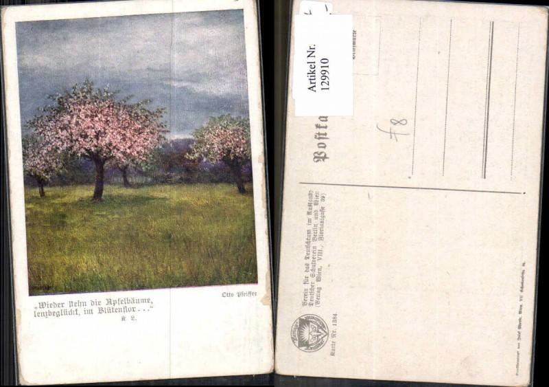 129910,Dt. Schulverein 1384 Otto Pfeiffer Apfelbäume Bäume