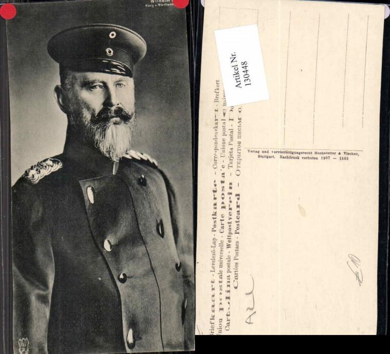 130448,König von Württemberg Wilhelm 2