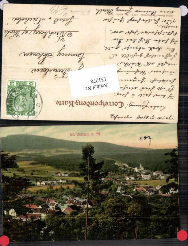 131278,St Johann am Steinfeld bei Pottschach Ternitz 1912 pub Seiser 2727