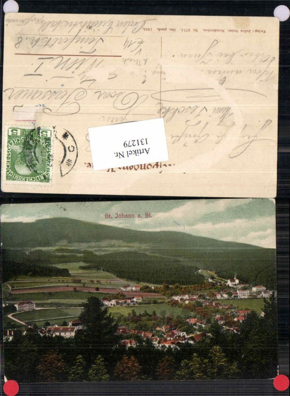 131279,St Johann am Steinfeld bei Pottschach Ternitz 1912 pub Seiser 2726