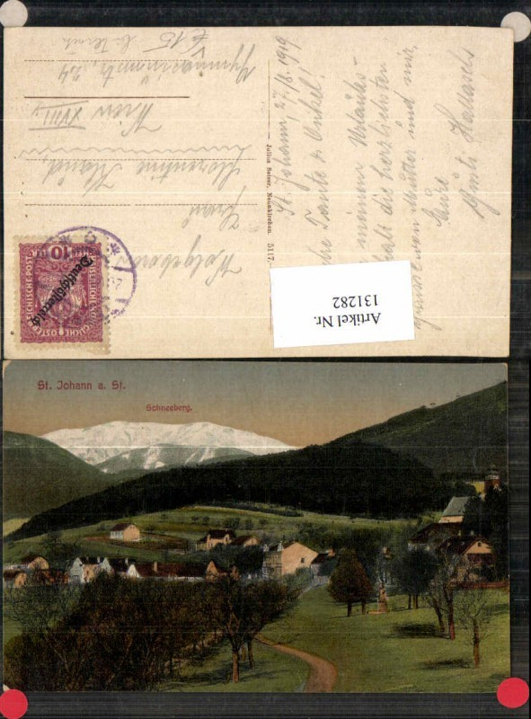 131282,St Johann im Steinfeld m. Schneeberg pub Seiser 5117 Ternitz Pottschach