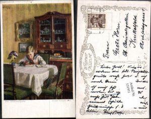 131911,Rudolf Konopa Die Schulaufgabe Junge Matrose Uniform Komode