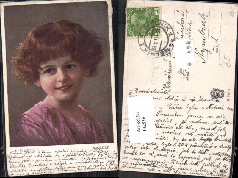 132536,C.V. Muttich Mädchen Portrait