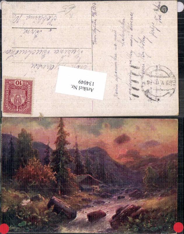 134049,L. Schweiger Künstlerkarte Bäume