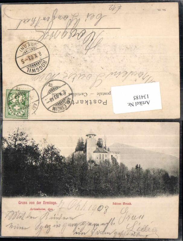 134185,Gruss von der Ermitage Schloss Birseck Arlesheim Kt Basel Land